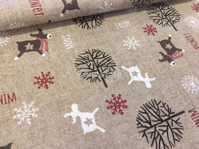 Коледен плат с еленчета Frozen