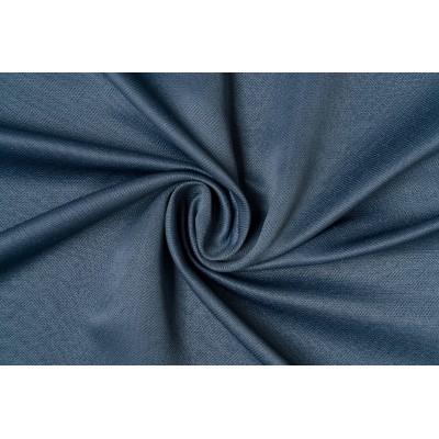 Едноцветен плат за плътна завеса в синьо с десен