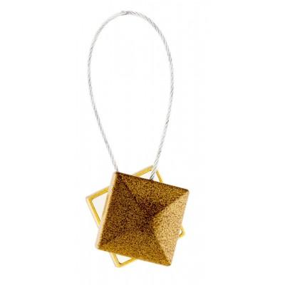 Магнитна щипка за пердета и завеси с квадратна форма в антично злато