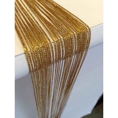Ресни в златист цвят с брокат (ламе)