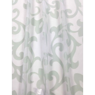 Curtain with light green motives