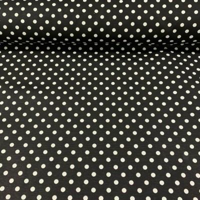 Дамаска в черно на бели точки