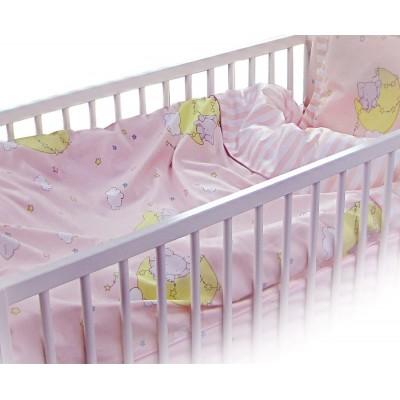 Бебешки спален комплект Слон в розово