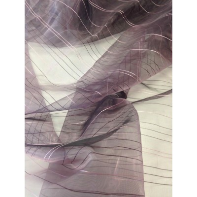 Плат за тънко перде тип органза в лилаво