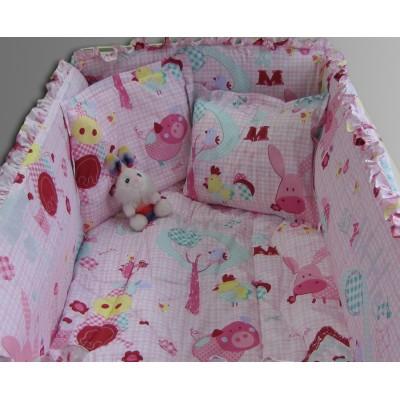 Бебешки спален комплект Розови прасенца