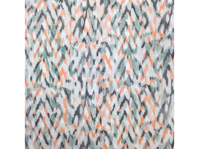 Плат за плътна завеса на пръски в оранжево и зелено