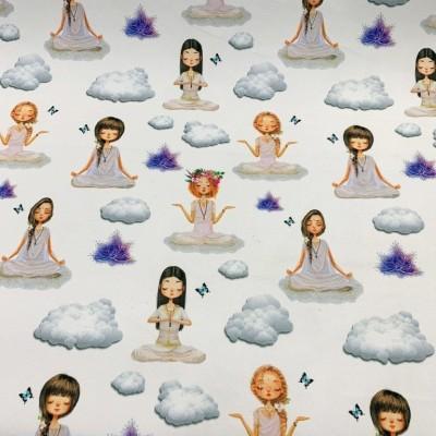 Плат за плътна завеса с дигитален печат Медитация