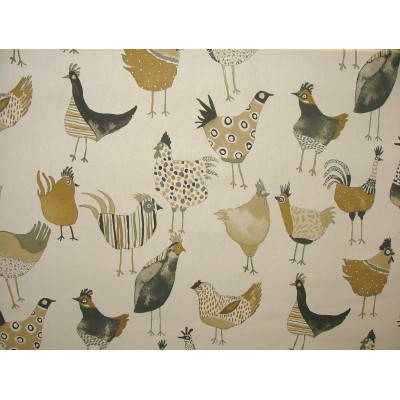 Curtain for children with hens