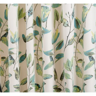 Curtain with green leaves