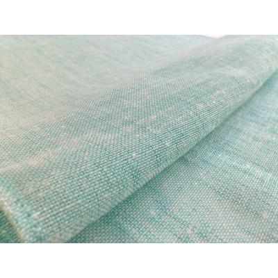 Плат за тънко перде имитиращо естествена материя в тюркоаз