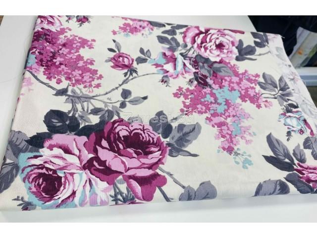 Намалено парче плат с цветя 0,90см/2,80м