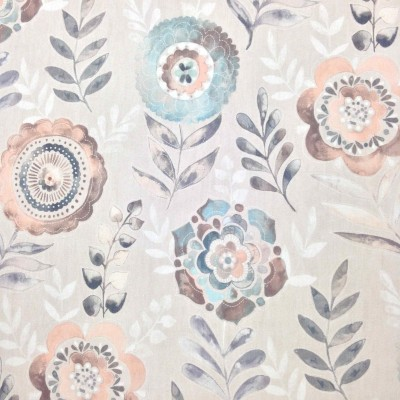 Curtain with stylized flowers