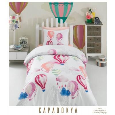 Единичен спален комплект от ранфорс Kapadokia