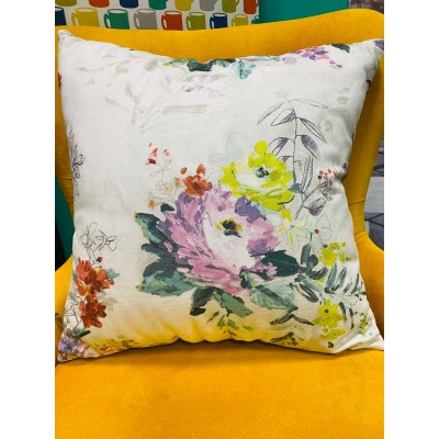 Decorative christmas pillow with flowers 50/50