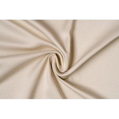 Едноцветен плат за плътна завеса в цвят крем с десен