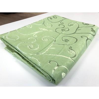 Намалено парче в зелено със завъртулки с размер 0,80см/2,80м