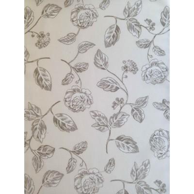 Полупрозрачен плат за тънко перде с рози