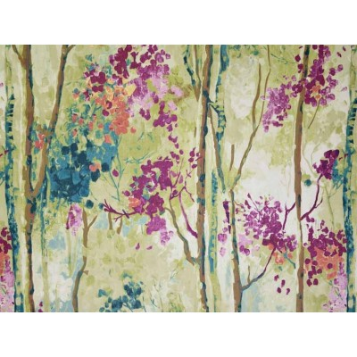 Curtain with watercolor patterns