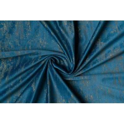 Plush curtain in blue
