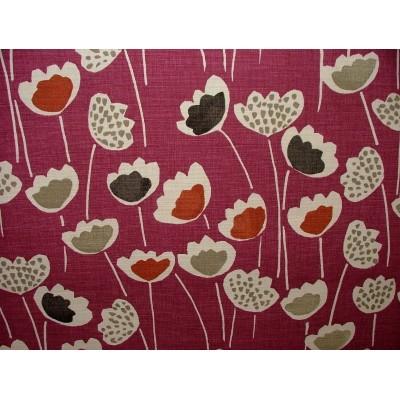 Плат за плътна завеса със стилизирани цветя