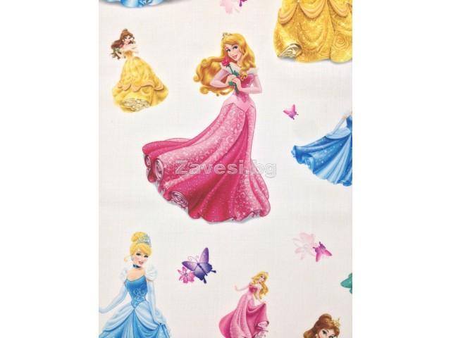 Плат за плътна детска завеса с принцеси