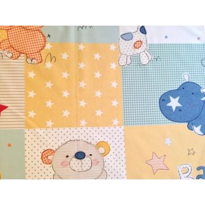 Плат за плътна детска завеса с животни, подходящ и за чаршафи