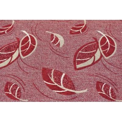 Дамаска Фибреа със шарка цвят тъмно червен