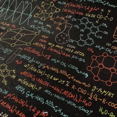 Плат за плътна детска завеса с дигитален печат Химия