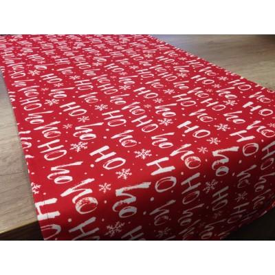 Коледен тишлайфер в червено с бели надписи 50/135