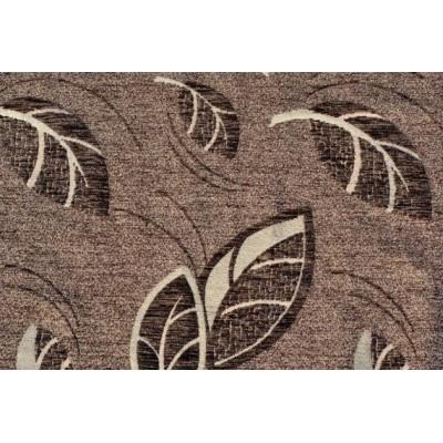 Дамаска Фибреа със шарка цвят тъмно кафяв