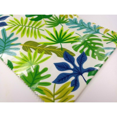 Fabric for tablecloths with PVC coating Tropical
