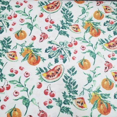 Curtain and upholstery with fruits