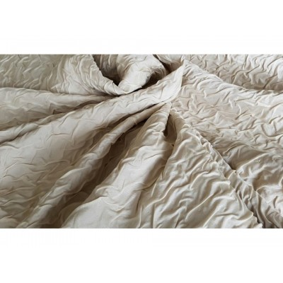 Wrinkled fabric for thick curtains