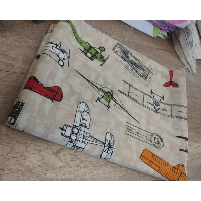 Piece fabric with Planes 0,50cm