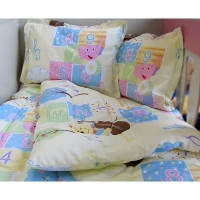 Бебешки спален комплект слонче в жълто