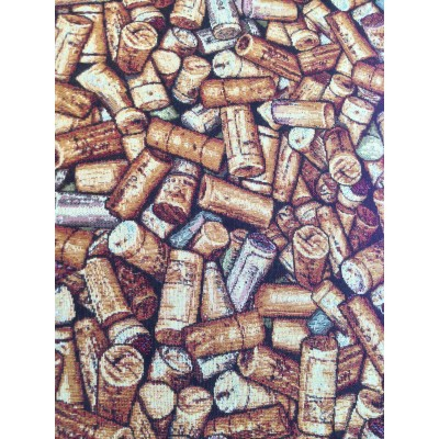 Curtain with cork