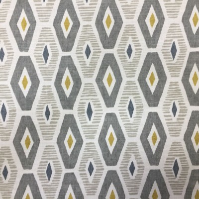 Curtain with geometric forms in grey
