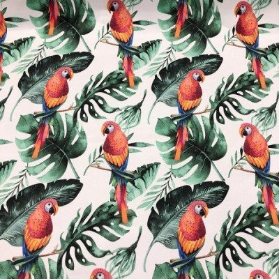 Curtain with digital stamp Parrots
