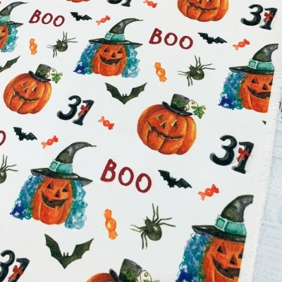 Плат за плътна детска завеса Хелоуин