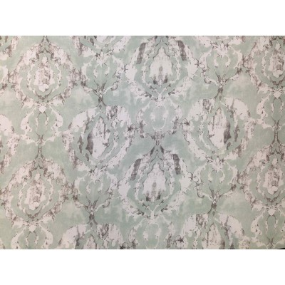 Blackout curtain in mint with ornaments
