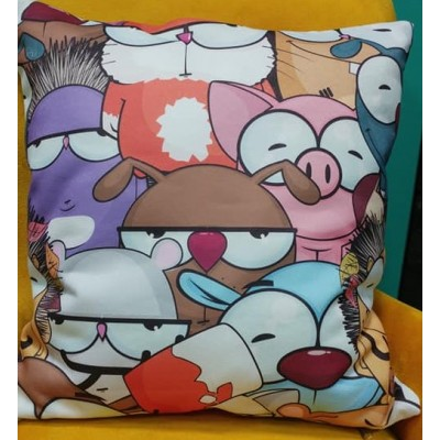 Decorative pillow case Cartoon characters size 43/43