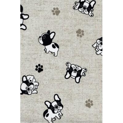 Curtain with design French bulldog