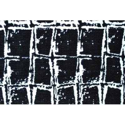Дамаска Елеганс с шарка цвят сиво и черно