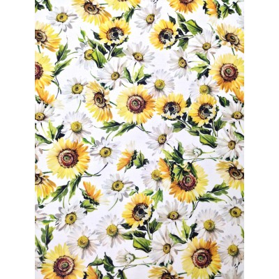 Curtain with digital stamp Sunflowers