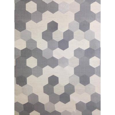Curtain Hexagon in grey
