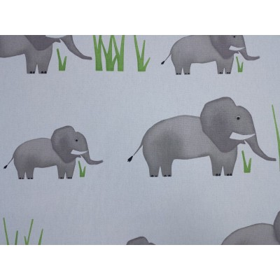 Curtain for children with elephants