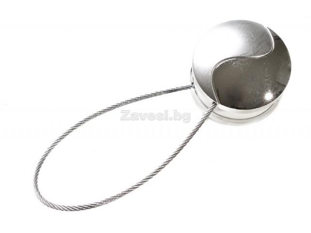 Магнитна щипка за пердета и завеси в лъскаво и матово сребристо