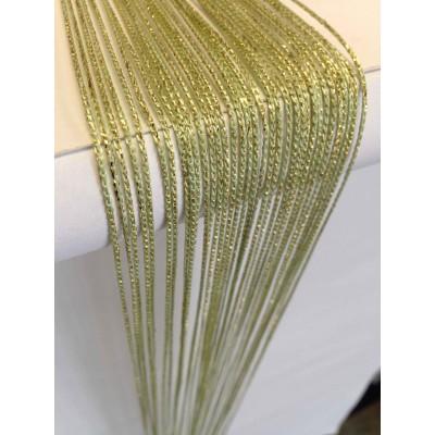 Ресни в зелен цвят със златист брокат (ламе)