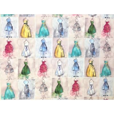 Дамаска с дигитален печат Мода