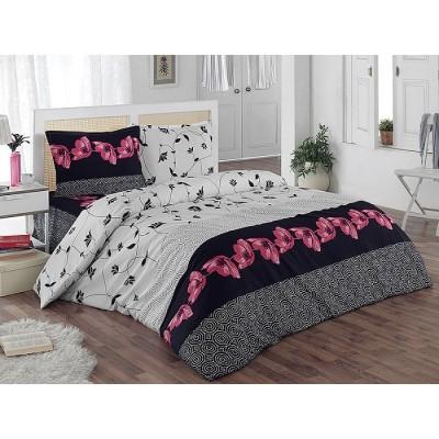 Двоен спален комплект с два плика ранфорс Макове